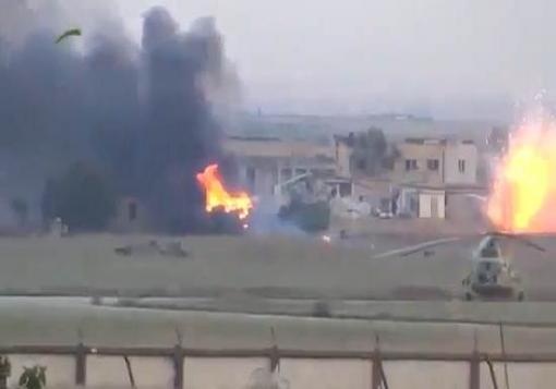 صورة خان العسل : بدأ اقتحام مدرسة الحكمة وتدمير اربع دبابات اليوم