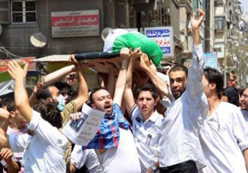 صورة حصيلة شهداء حلب وريفها لتاريخ 10\7\2013 الاربعاء اليوم الاول في رمضان المبارك