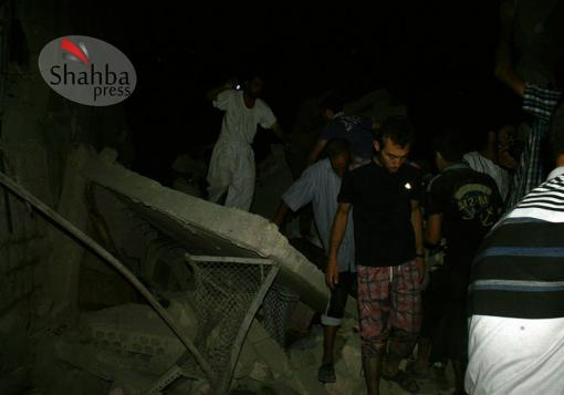 صورة شهبا_برس || حلب – باب النيرب || الدمار الحاصل جراء القصف بصاروخ