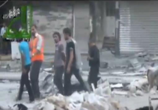 صورة جثة شبيح يبدلها النظام على 13 معتقلا بينهم امرأة في دمشق