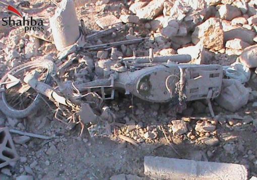 صورة ادلب – معرة النعمان قرية دير شرقي : آثار الدمار التي خلفها قصف الطيران الحربي
