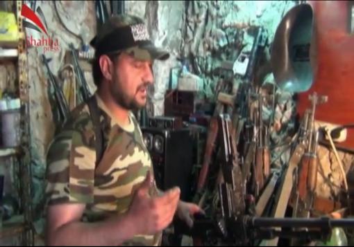 صورة حلب : تقرير من أحد مراكز صيانة السلاح في ريف مدينة حلب .
