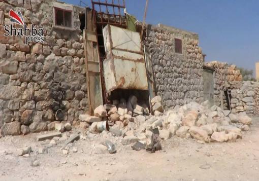 صورة احصائية في بلدة ماير لوكالة شهبا برس عن اضرار المنازل