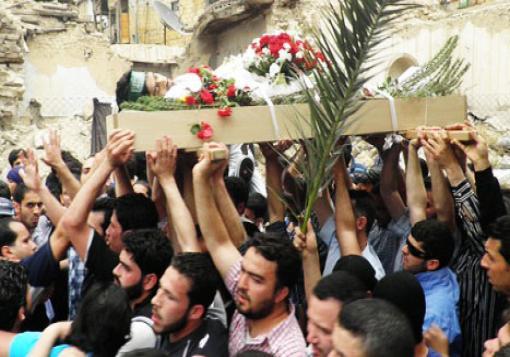 صورة حصيلة شهداء حلب وريفها ليوم الثلاثاء 179/2013 تسعة شخص