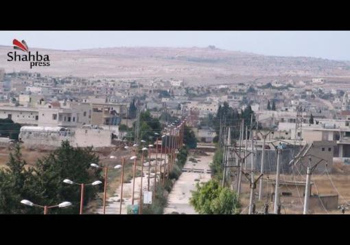 صورة عدسة شهبا برس ترصد حواجز النظام على مدخل مدينة نبل