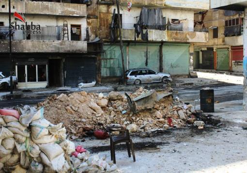 صورة عدسة شهبا برس ترصد الدمار في حي الاشرفية