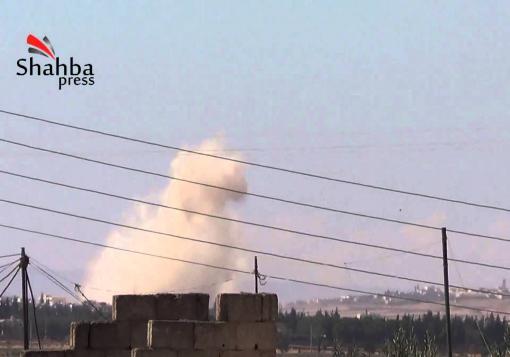 صورة توثيق شهداء قصف قرية البوابية التابعة لناحية الزربة