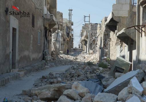 صورة عدسة شهبا برس تزور حي الشيخ سعيد في حلب