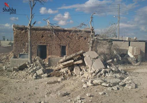 صورة عدسة – شهبا برس|| ريف حلب – بلدة الحاضر