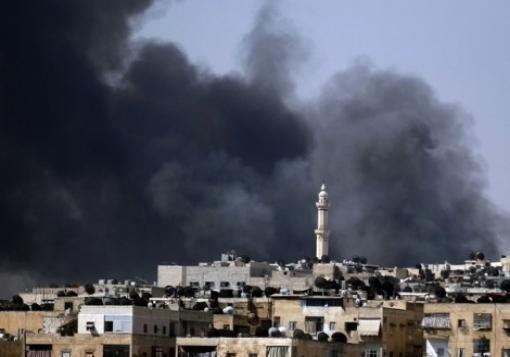 صورة انخفاض معدل القصف على مدينة السفيرة بعد تهجير السكان من قبل قوات النظام
