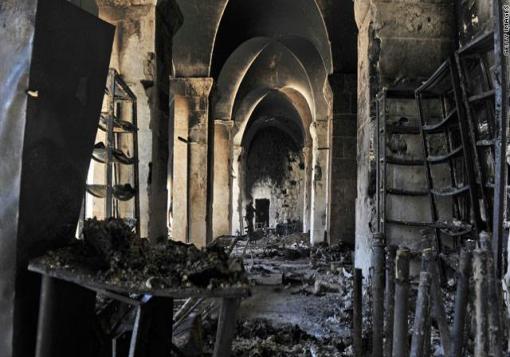 صورة مصرع  10 من جنود النظام بعد محاولتهم اقتحام الجامع الكبير
