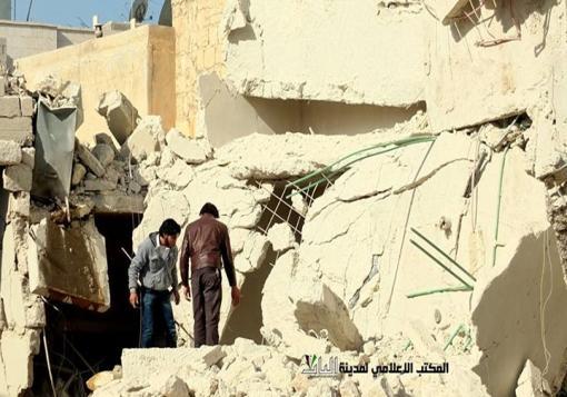 صورة إرتقاء قرابة 80 شهيد في مدينة الباب لثلاث مجازر على التوالي ترتكبها  قوات الأسد