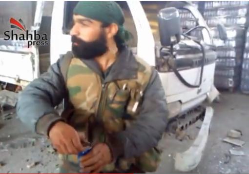 """صورة خاص::شهبا برس :: جنود الأسد يوثقون إعتداءاتهم على أملاك الناس في نقيرين """" فيديو """""""