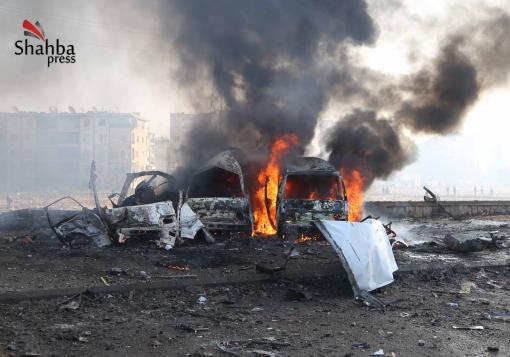 صورة عاجل :: مجزرة في حي الحيدرية في صباح مشمس لحلب