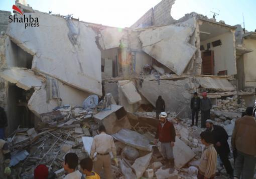 صورة مجازر متكررة على امتداد مدينة حلب ونداءات استغاثة يطلقها ناشطون