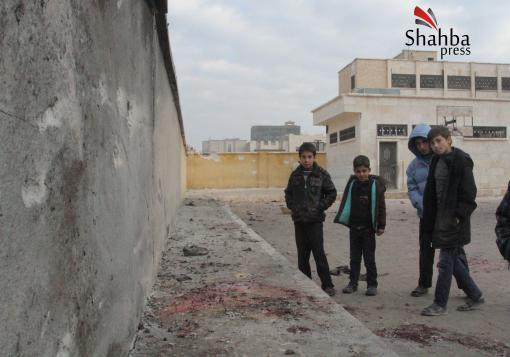 صورة مجازر جديدة تستهدف طلاب المدارس في يوم دموي ثان ٍ في حلب