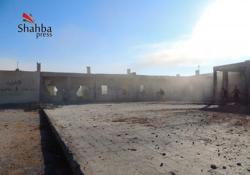 صورة براميل الأسد تستهدف المدارس في مارع و الأسواق في حلب