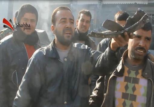 صورة أهالي حلب لشهبا برس :: الأمم  المتحدة متآمرة علينا و البراميل هي هدايا من مؤتمر جنيف للسوريين !