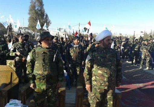 صورة عصائب الشيطان العراقية تستعرض قوتها في دمشق