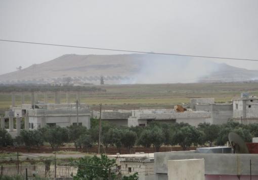 """صورة ثوار درعا يعلنون معركة """" الله أكبر """" وجيش الاسد يرد بقصف المدن"""
