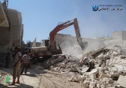 صورة مجزرة جديدة بحي باب النيرب، ومحاولات لإعادة المياه و الكهرباء إلى حلب.
