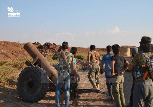 صورة داعش تهدد بإستكمال السيطرة على ريف حلب الشمالي وتستغل إنشغال تصدي الثوار لقوات الأسد