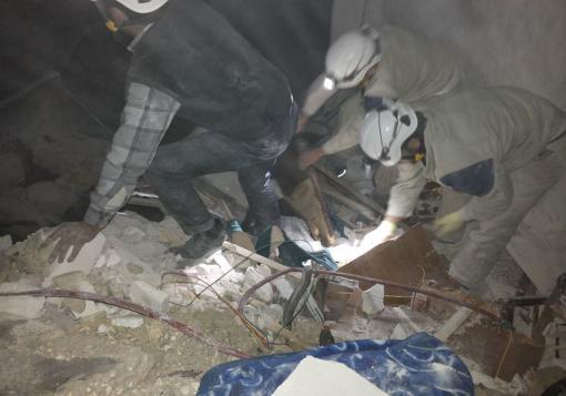 صورة مجزرة زمزم : 30 شهيدا و100 جريح على الأقل حصيلة القصف الجوي على الباب