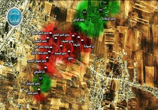 صورة معسكر الحامدية في إدلب والملاح بحلب تشهد أعنف المعارك.
