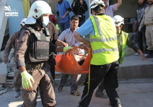 صورة قصف عنيف تشهده بلدات ومدن ريف حلب الشمالي