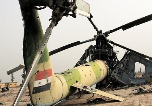 صورة مقتل أكثر من 30 عنصر من قوات الأسد بتحطم طائرة بريف إدلب