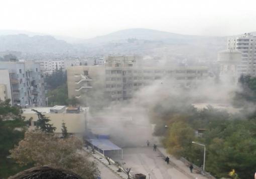 صورة صواريخ مجهولة المصدر تضرب أحياء العاصمة