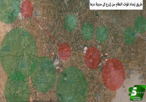 صورة ثوار درعا مستمرون في التقدم على عدة جبهات