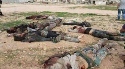 صورة مقتل عشرين عنصرا من قوات الأسد خلال الاشتباكات بريف دمشق
