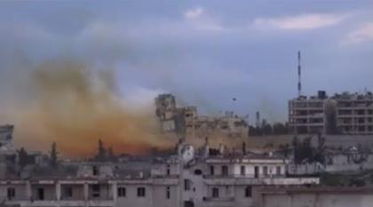 صورة عملية مشتركة للثوار على فرع المخابرات الجوية بحلب