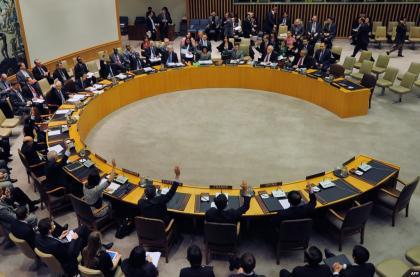 صورة مجلس الأمن وتحت الفصل السابع يدين استخدام غاز الكلور في سورية