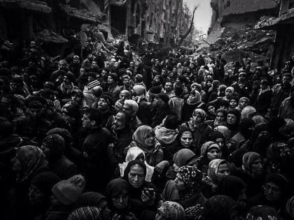 صورة مخيم اليرموك موتة وغصة قبر