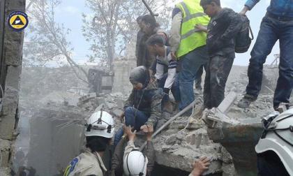 صورة أكثر من مئة غارة جوية على أحياء حلب خلال عشرة أيام