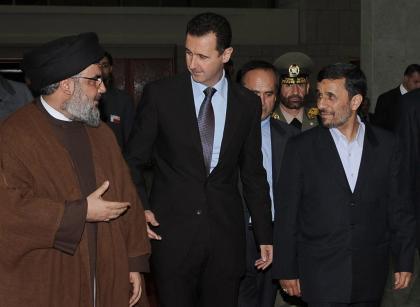 صورة وكلاء إيران.. الأسد ونصر الله يهاجمان السعودية