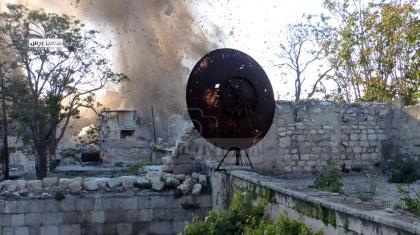 صورة معارك عنيفة في حلب القديمة بعد نسف مقرات قوات الأسد أمس
