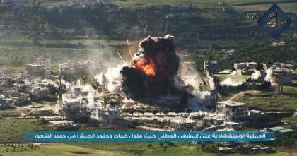 صورة ثوار فتح إدلب يحاولون اقتحام مشفى جسر الشغور آخر معاقل المرتزقة