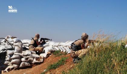 صورة طيران التحالف لم يتدخل شمال حلب والثوار يتقدمون في أم حوش