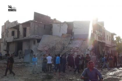 صورة طيران الأسد يستهدف مارع وتل رفعت لتسهيل دخول داعش إليهما