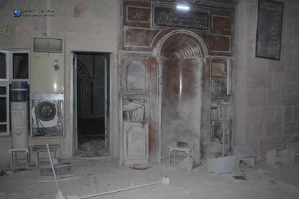 صورة مجزرة في الأنصاري، و طائرات الأسد مستمرة في قصفها