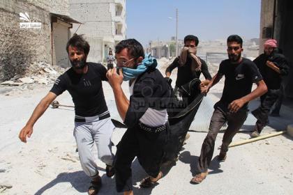 صورة طيران الأسد يرتكب مجزرة في حساجك شمال حلب