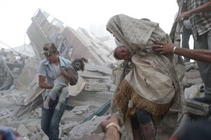 صورة طيران الأسد يرتكب مجزرتين في  ريفي إدلب ودمشق