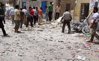 صورة مجازر الأسد مستمرة في حلب، و ثمانون شهيداً في مدينة الباب