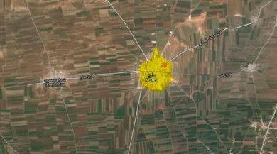 صورة داعش تتسلل إلى مارع وتحاول إزالة حدود المنطقة الآمنة