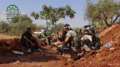 صورة معارك عنيفة يخوضها الثوار لاستعادة قريتي تلالين وحربل