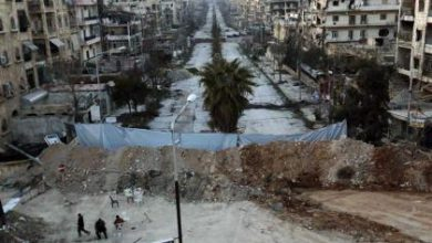 صورة الثوار يتصدون لقوات الأسد في حي سيف الدولة بحلب