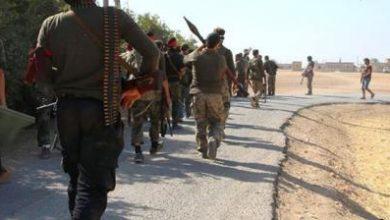 صورة الثوار يخوضون معارك عنيفة ضد داعش على جبهة حرجلة شمال حلب